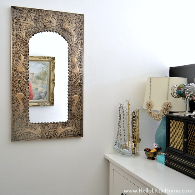 Easy Bedroom Updates: Art and Mirror | Hello Little Home #InteriorDesign #Decor #Makeover