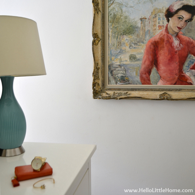 Easy Bedroom Update: Art and Mirror | Hello Little Home #InteriorDesign #Decor #Makeover