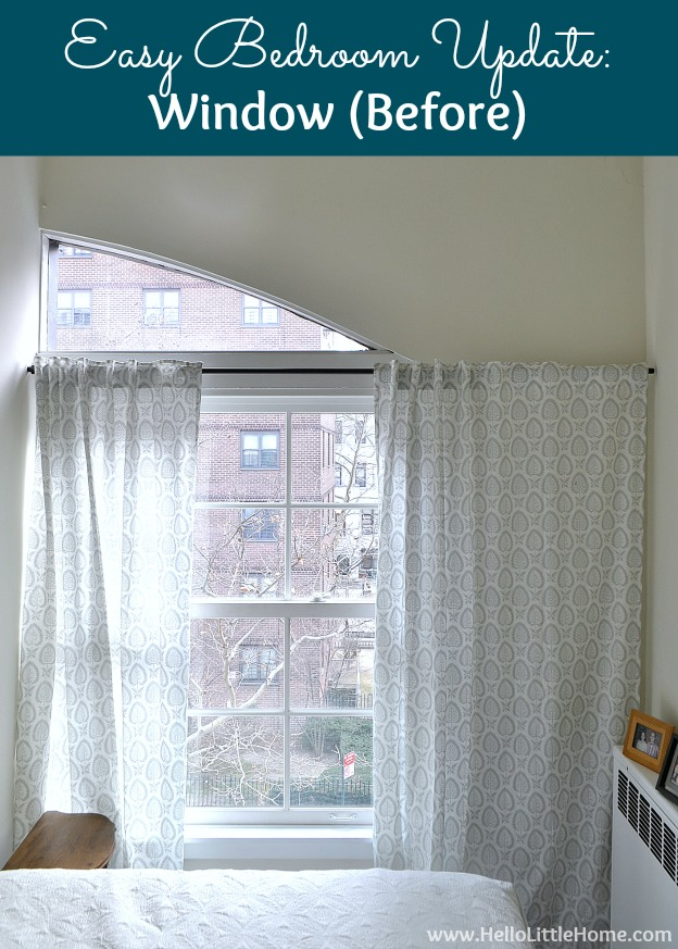Easy Bedroom Updates: Window (Before) | Hello Little Home #InteriorDesign #Levolor #Decor