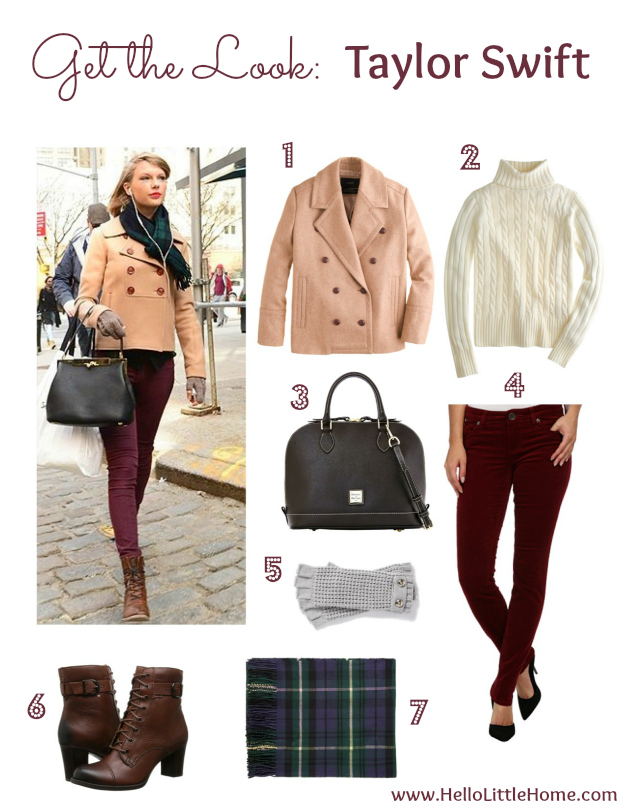 Get the Look: Taylor Swift | Hello Little Home #celebritystyle #fashion