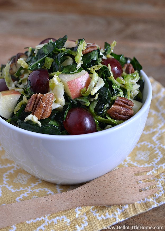 10 Things to Try in January ... try a kale salad! | Hello Little Home