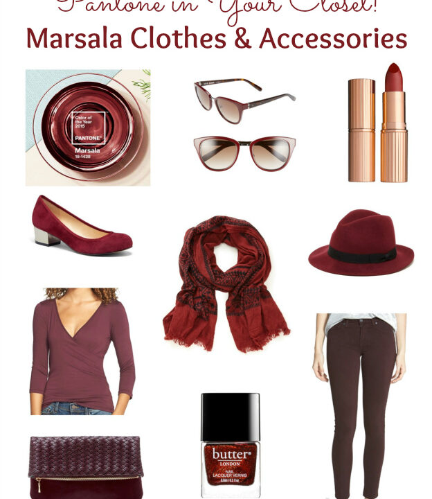 Pantone in Your Closet! Marsala Clothes & Assessories | Hello Little Home #PantoneColorOfTheYear #2015 #Marsala
