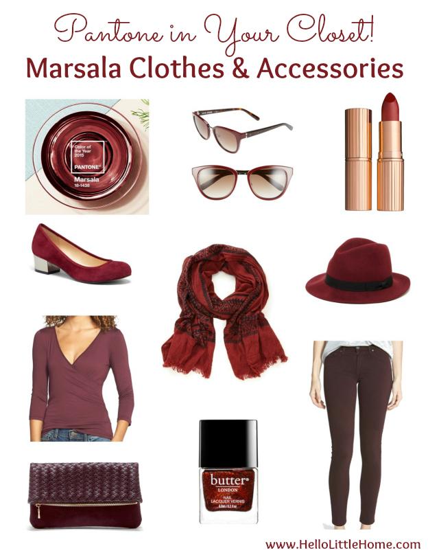 Pantone in Your Closet! Marsala Clothes & Assessories | Hello Little Home #PantoneColorOfTheYear #2015 #Marsala