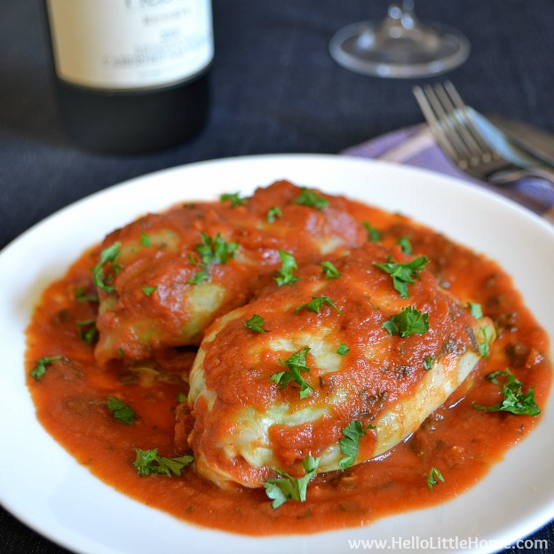 Moroccan-Spiced Vegetarian Cabbage Rolls | Hello Little Home