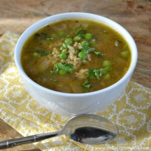 Peas and Rice Soup