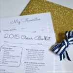 Take your party to the next level with this 2015 Oscar Ballot and Envelope ... with free printables! | Hello Little Home #DIY #AcademyAwards
