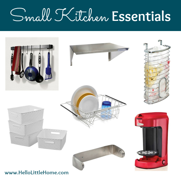 Essentials for Organizing a Small Kitchen | Hello Little Home