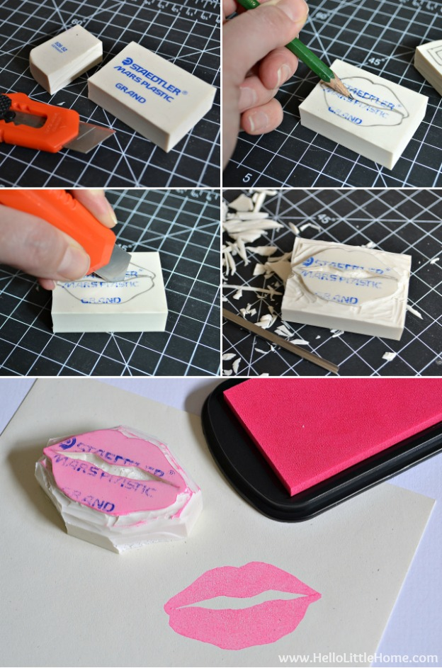 Learn how to make your own stamps ... it's easy! | Hello Little Home #DIY #craft