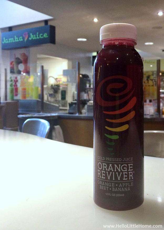 Jamba Juice Cold Pressed Juice: Orange Reviver | Hello Little Home @JambaJuice #ad #JuiceByJamba