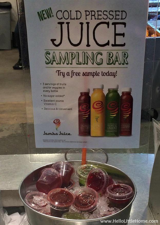 Jamba Juice Cold Pressed Juice Samples | Hello Little Home @JambaJuice #ad #JuiceByJamba