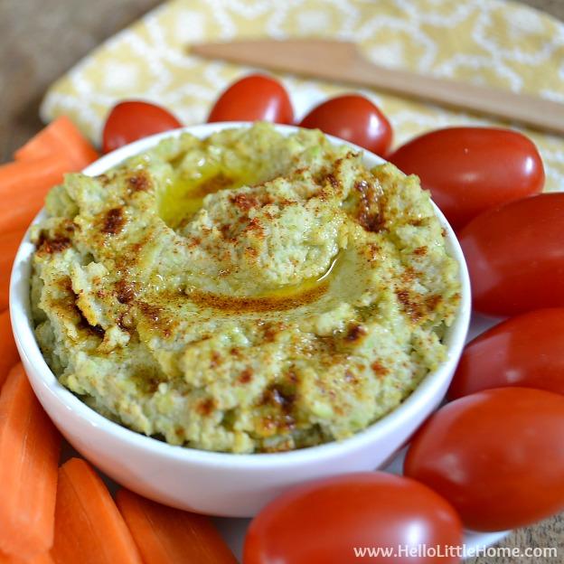 Lemon-Garlic Edamame Dip