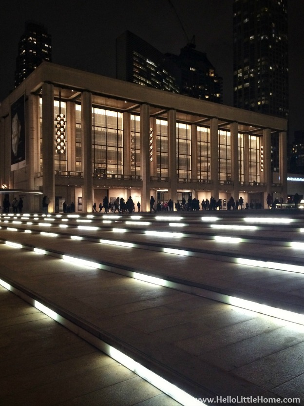 Lincoln Center at Night | Hello Little Home