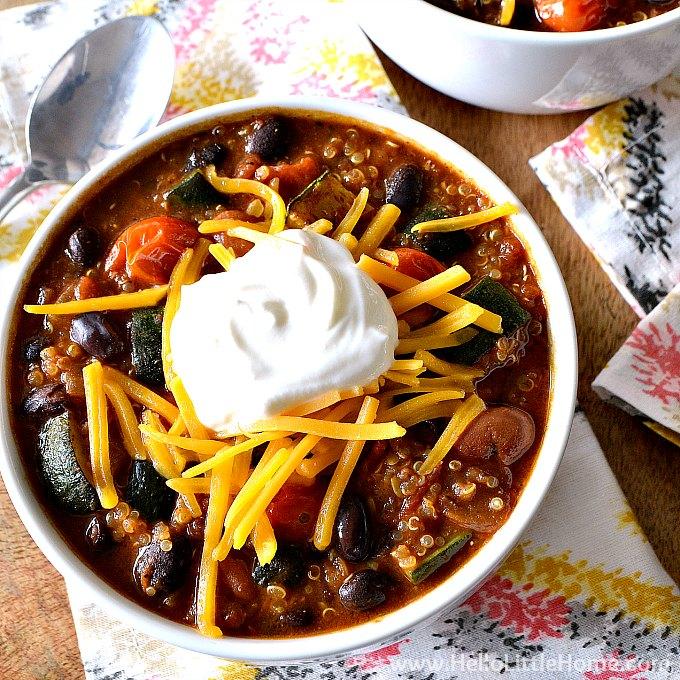Roasted Vegetable Quinoa Chili