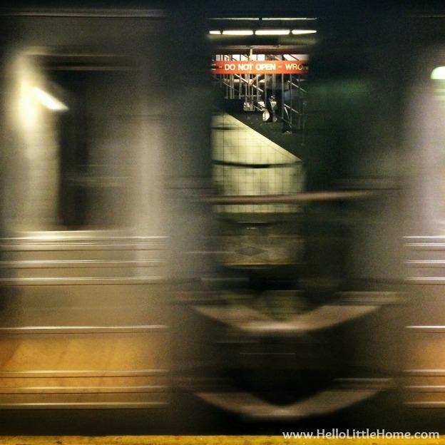 Subway Blur | Hello Little Home