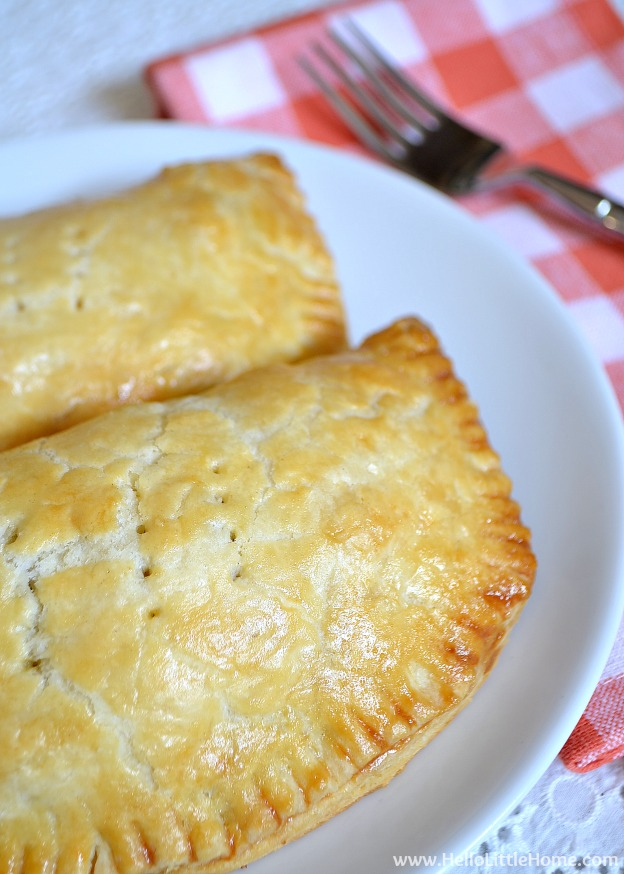 These Vegetarian Sausage and Egg Hand Pies are a delicious breakfast recipe that your whole family will love! | Hello Little Home
