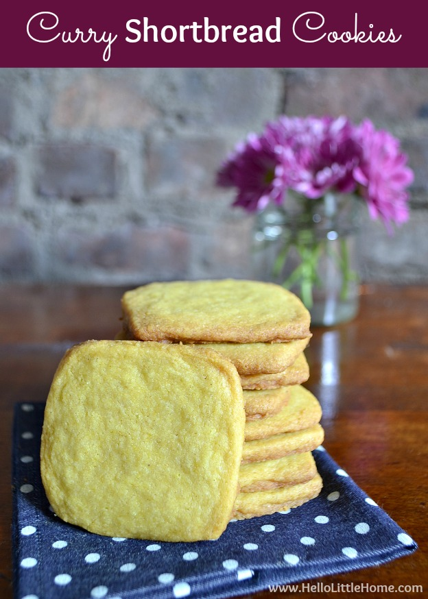 These Curry Shortbread Cookies are a aromatic, spicy twist on a classic! | Hello Little Home