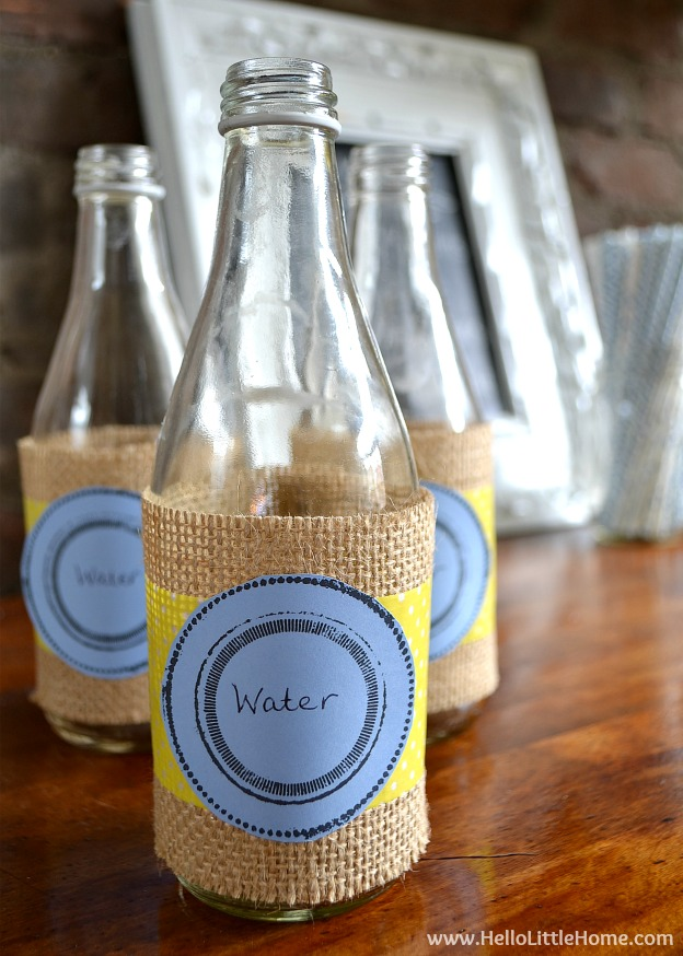 These DIY French Themed Party Decorations with printable labels are perfect for your next French theme party! | Hello Little Home