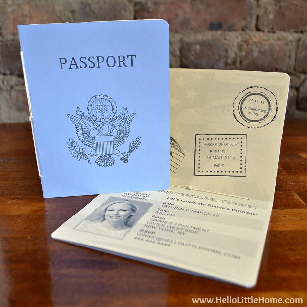 diy french themed party decorations passport invitation with free printable 6