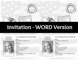 DIY French Themed Party Invitations: Passport Invitation WORD Version | Hello Little Home
