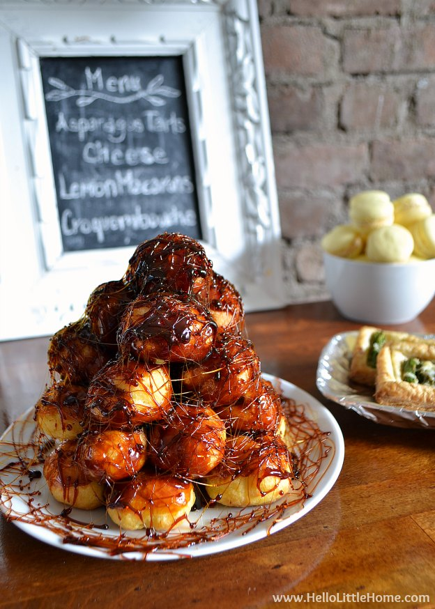 Make this easy Croquembouche recipe for your next special occasion! | Hello Little Home