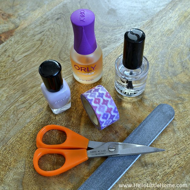 Easy Washi Tape Nail Art Supplies | Hello Little Home