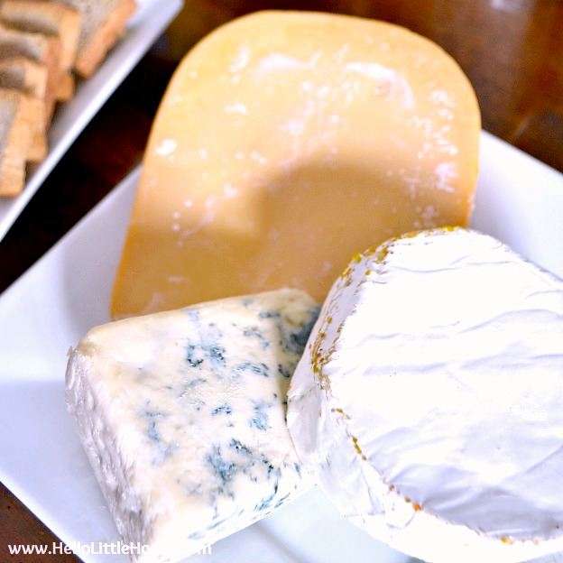 French Themed Food Ideas: A simple Cheese Plate.