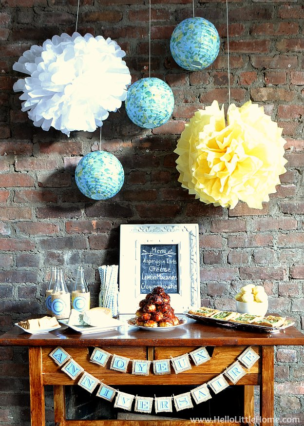 Try one of these French themed food ideas for your next party! | Hello Little Home