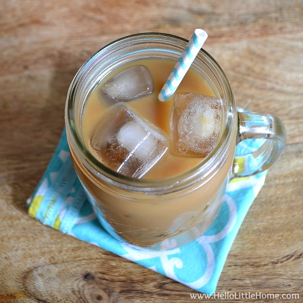 Learn how to make the perfect iced coffee ... it's worth waking up for! | Hello Little Home #McCafeMyWay