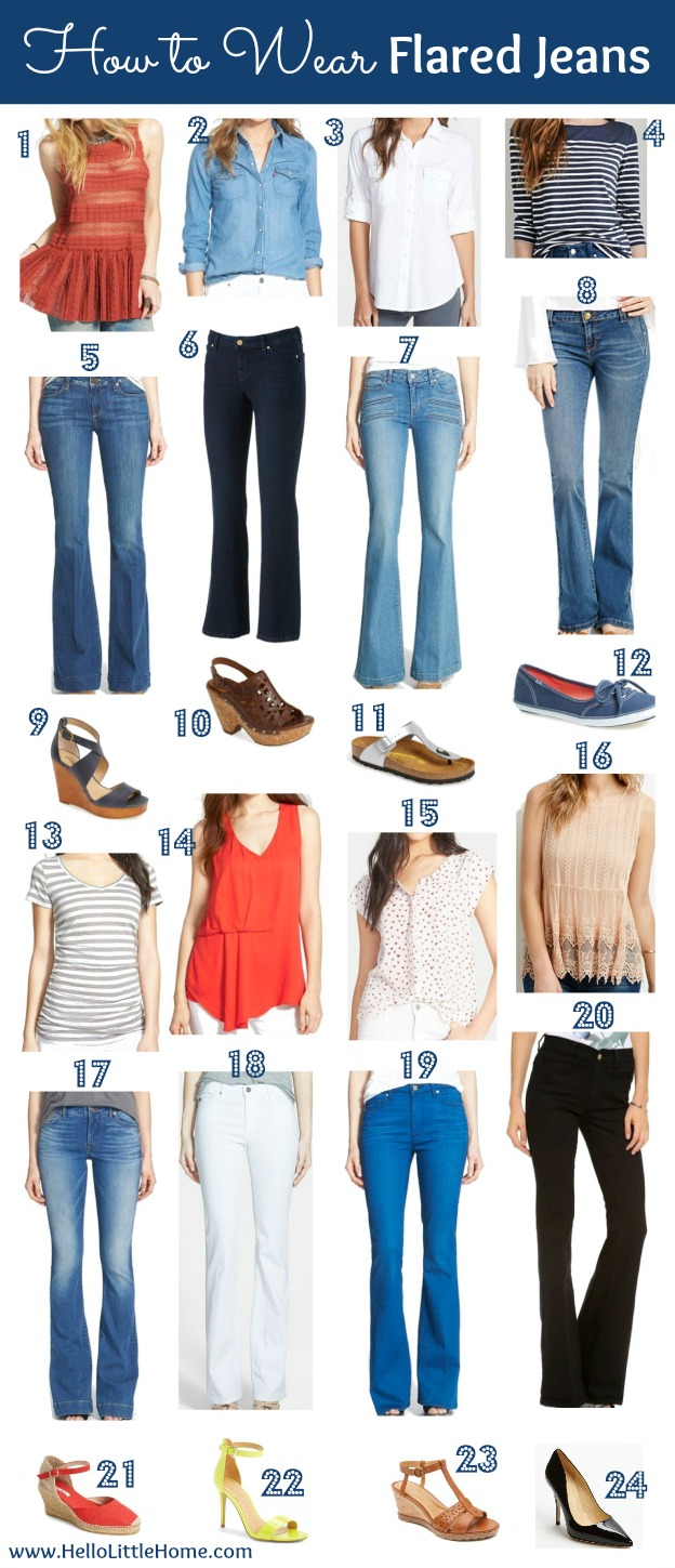 How to Wear Flared Jeans | Hello Little Home #style #fashion #denim # - How To Wear Flared Jeans
