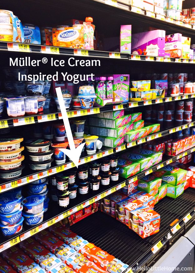 Müller® Ice Cream Inspired Yogurt at Walmart | Hello Little Home #MullerMoment