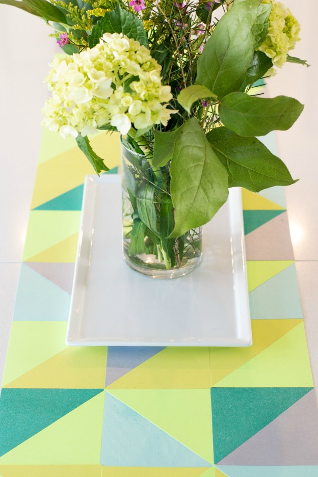 Spring DIY Projects: Paper Table Runner from A Night Runner | Hello Little Home