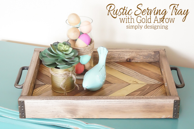 Diy Home Decor Projects Rustic Serving Tray Hello Little Home Interiordesign Crafts