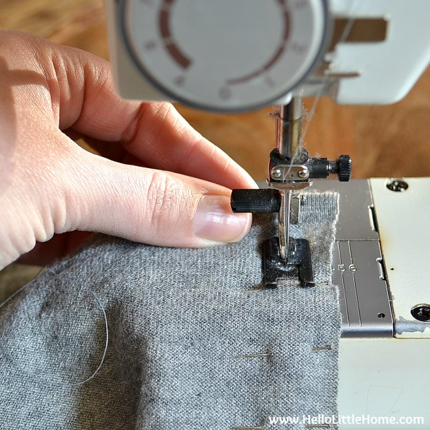 Sewing the DIY Cashmere Sweater Pillow Cover. | Hello Little Home #stylebymethod #clevermethod