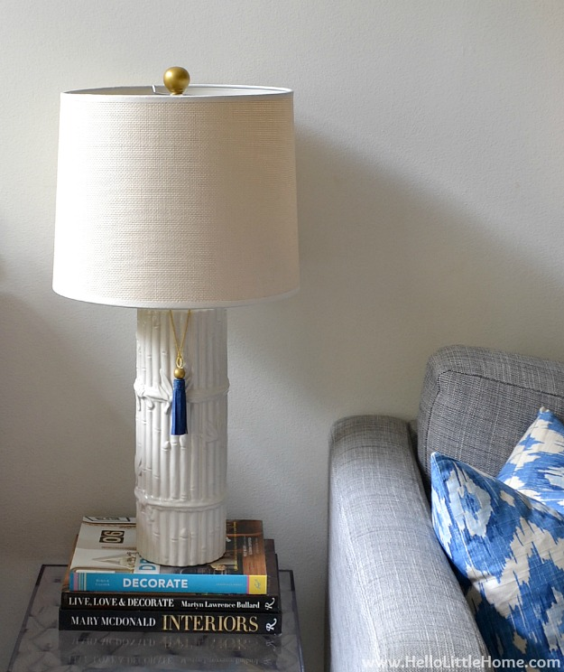 DIY Home Decor Projects: Finial Makeover and DIY Suede Tassel | Hello Little Home #interiordesign #crafts