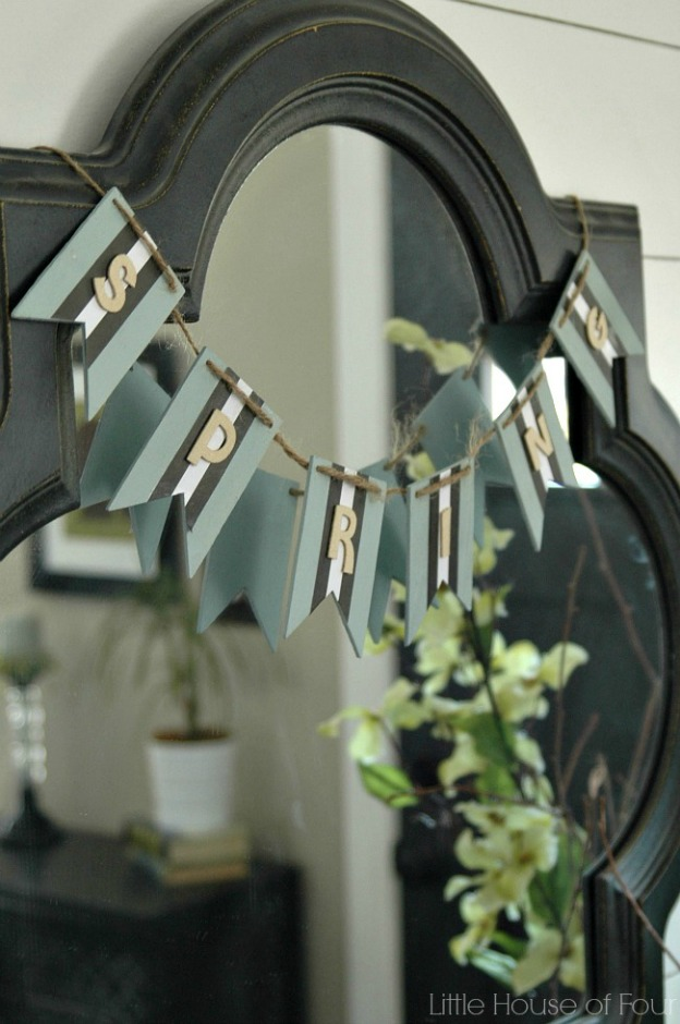 Spring DIY Projects: Spring Garland from Little House of Four | Hello Little Home