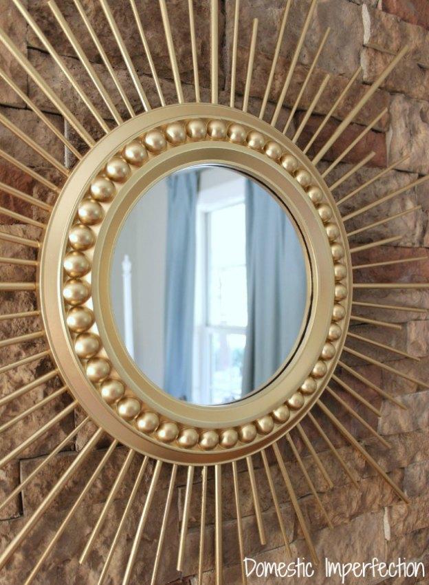 DIY Home Decor Projects: DIY Sunburst Mirror | Hello Little Home #interiordesign #crafts