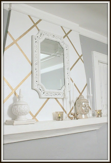 diy home decor projects wall accent hello little home interiordesign crafts - Gold Home Decor