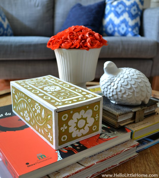 DIY Home Decor Projects: Faux Inlay Box | Hello Little Home #interiordesign #crafts