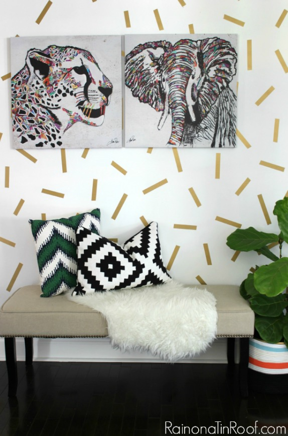 DIY Home Decor Projects: Confetti Accent Wall | Hello Little Home #interiordesign #crafts