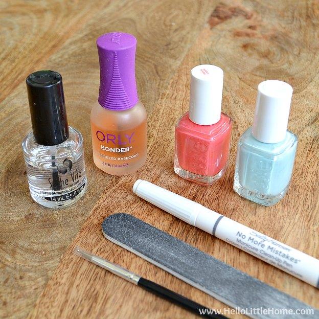 Easy Polka Dot Nail Art Supplies | Hello Little Home