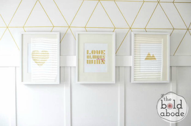 DIY Home Decor Projects: Gold Foil Printables | Hello Little Home #interiordesign #crafts