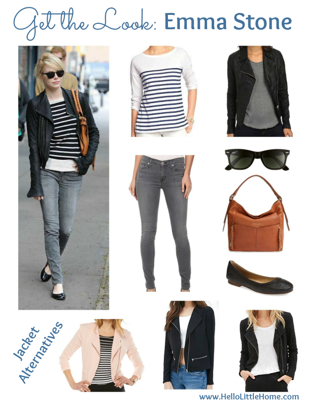 Get the Look! Emma Stone's casual, chic look is perfect for transitioning into warmer spring weather! | Hello Little Home #style #SpringStyle #fashion