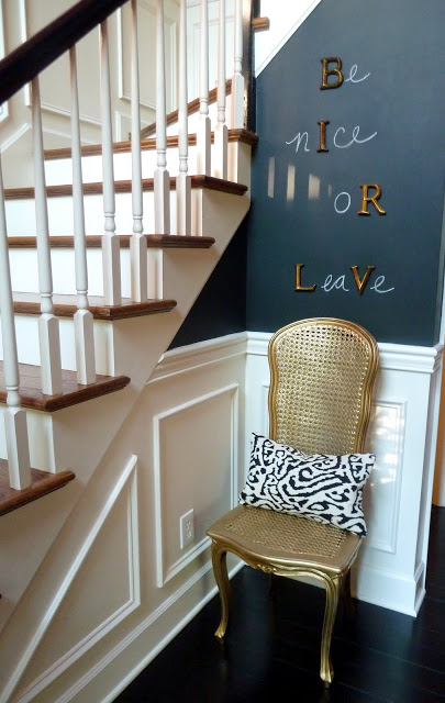DIY Home Decor Projects: Spray Painted Chair Makeover | Hello Little Home #interiordesign #crafts