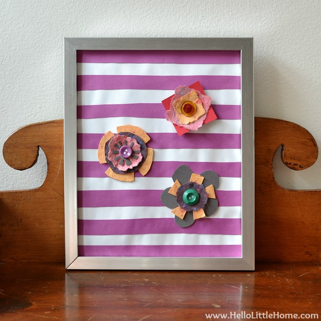 Spring DIY Projects: Flower Art | Hello Little Home