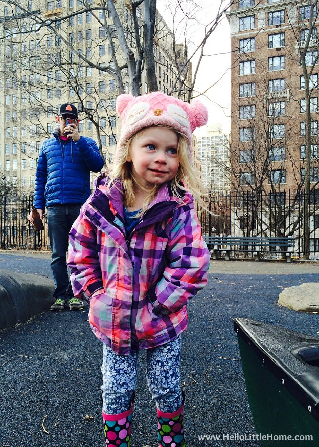 Niece Savanna in Central Park | Hello Little Home