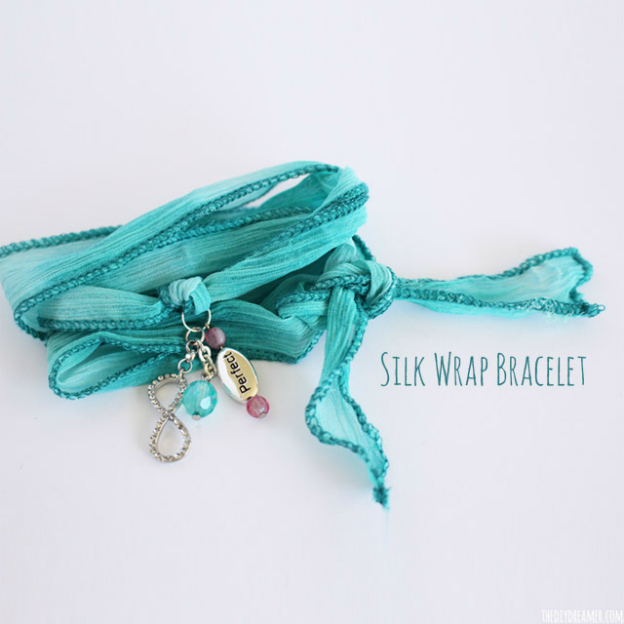 Spring DIY Projects: Silk Wrap Bracelet from The DIY Dreamer | Hello Little Home