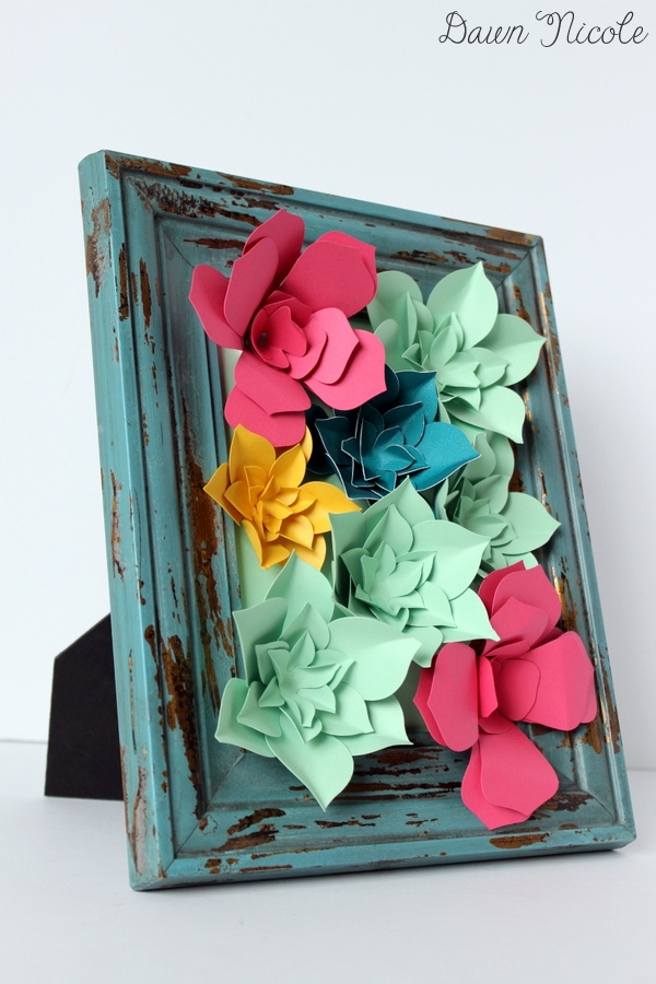 15 Easy DIY Wall Art Projects: Paper Succulent Wall Art | Hello Little Home #crafts #artwork