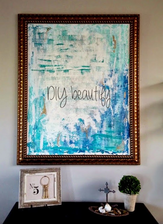 15 Easy DIY Wall Art Projects: DIY Abstract Painting | Hello Little Home #crafts #artwork