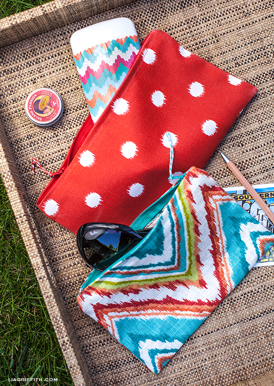 15 DIY Fashion Accessories You Can Make: Sewn Zipper Bag from Lia Griffith | Hello Little Home
