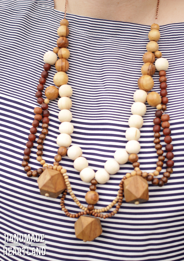 15 DIY Fashion Accessories You Can Make: Statement Necklace | Hello Little Home